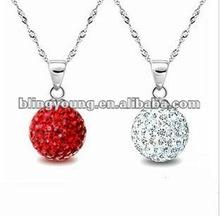 2012 latest shamballa pendant necklace BY-1143