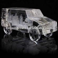 laser engraved crystal jeep,crystal jeep crafts