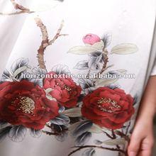 Printing silk fabric