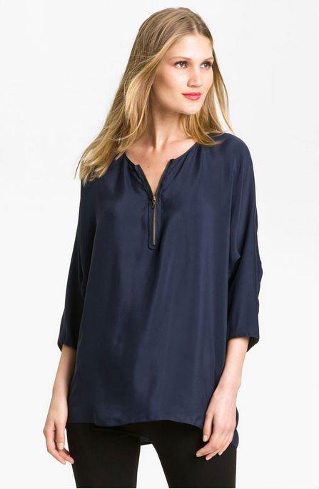 siete punto manga blusa holgada para damas de diseño de moda-Mujer ...