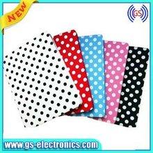 For new ipad/ipad 3 PU case polka dot Christmas gift for girl