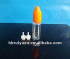 New!PET pellucid plastic refill e-cigarette or eye drop flavor container/bottle ,10ml