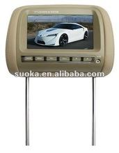7 inch Car Pillow Headrest tft lcd Monitor /TV