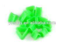 2012 hot jewelry piercing body jewelry wholesale gauges triangle green acrylic ear stretcher