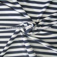 Stripe Athletic Knit Fabrics Black and White