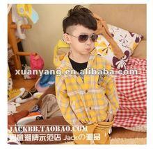 2012 100% cotton latticeboy's coats,children clothing