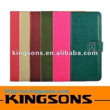 Hot! Fashion design leather case for ipad mini micro-fiber lining