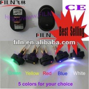 New style,12VDC,,50pcs/lot ASW-20D, 5 colors LED micro switch car