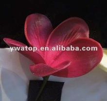 Real Touch Artificial PU Flower Frangipani Plumeria Hair Flower