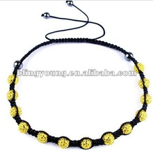 Fashion 10mm crystal shamballa necklace BY-1178
