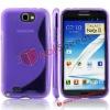 For Samsung Galaxy Note 2 TPU Phone Case! S Line Clear Crytal Design Phone Case for Samsung Galaxy Note II N7100
