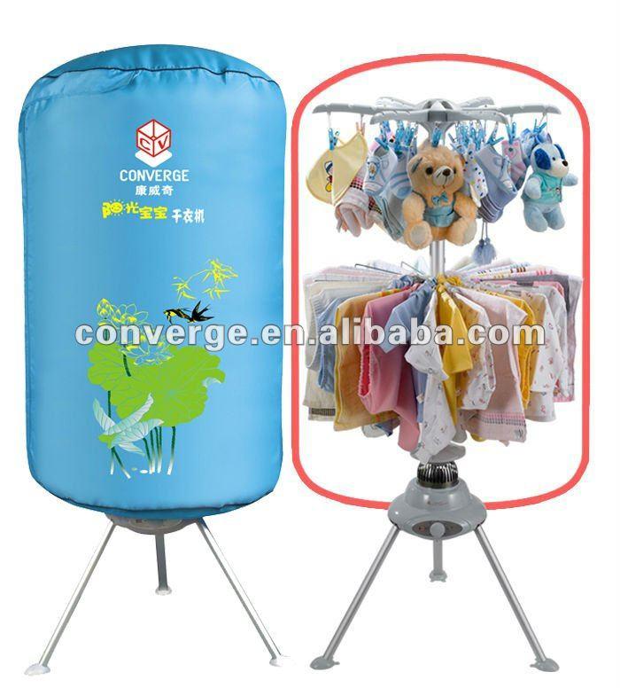 Mini baixo consumo de energia elétrica rodada portátil secadora de roupas