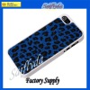 New arrival Leopard pattern case tpu+pc case for iphone 5