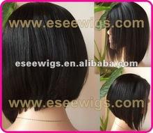stock cheap 100 human hair short bob wigs 12-14inch length