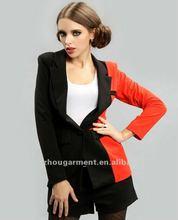 Fashion garment 2012 multi-color woman suit