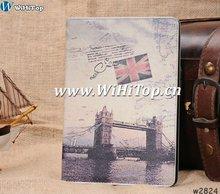 For iPad Mini Wake Up Leather Cover Skin