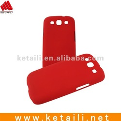 Red Color PC Hard Cover For Samsung Galaxy S3