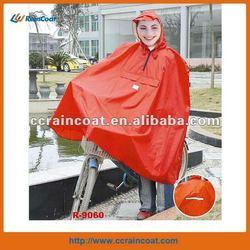 PVC polyester bicycle rain poncho
