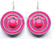 2012 fashion exotic hoop earrings wholesale china epoxy & enamel circle statement bib earrings fancy earrings for party girls