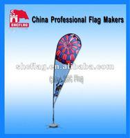 Promotional custom design outdoor cheap teardrop flag banner