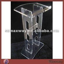 Combinado elegante igreja de acrílico discurso púlpito com pedestal