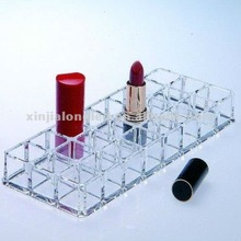 Clear Acrylic Lipstick Display Stand Acrylic Cosmetic Organizer