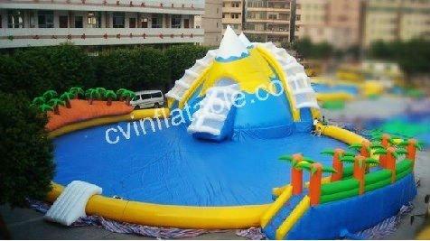2012 portatile rotondo cocco palma gonfiabile piscina con - Piscine con scivoli ...