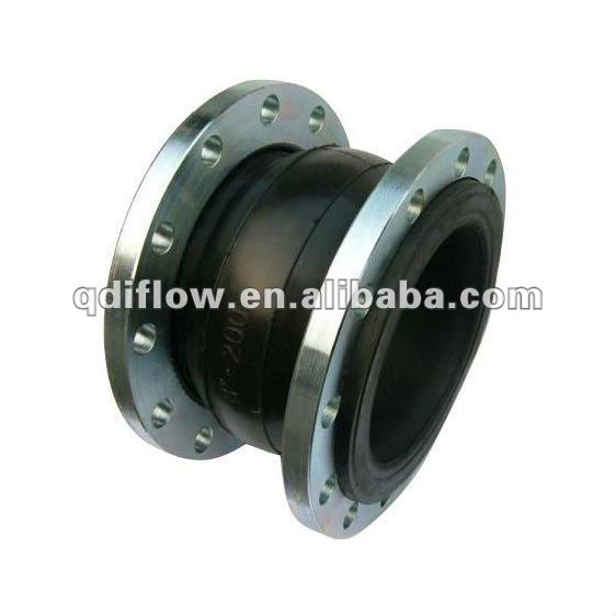 Single rubber sphere expansion joint with flanges