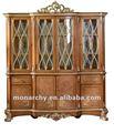 D129-51 luxo madeira maciça de armário antigo para sala de jantar