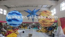 2012 new event/party decorative led lighting inflatable planet balloon