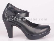 New designer Women leather shoes Black platform pumps dress for women shoes online PXT-HS107