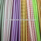 Satin curtain fabric with horizontal stripe