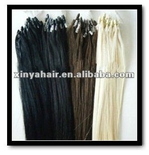 Human Hair Extension Silk Straight Micro-ring hair extension