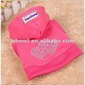 الساخن بيع جديدة تصميم هوديي الكلب / الحيوانات الأليفة هوديي / الكلب الوردي الملابس