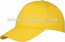 Casual Yellow Baseball Cap Golf Hat- 24 COLOURS, ANY TEXT, LOGO, EMBLEM