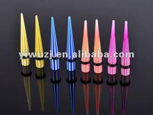 2012 Hot piercing jewelry wholesale multi colors ear expander watermelon print ear taper