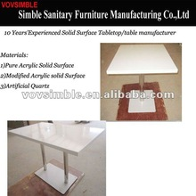 2012 Newest design acrylic solid surface table top/man made table top