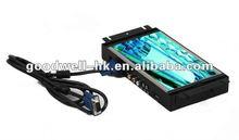 Industrial Touchscreen VGA, AV ,S -Video 8 open frame monitor with metal frame