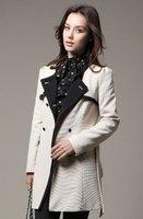 Fashion woman garment 2012 girls' cotton overcoat