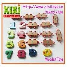 21Pcs Kids Funny Wholesale Magnetic Train DIY Wooden Math Toys