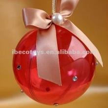 2013 christmas ornament plastic ball transparent