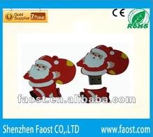 2012 bulk sale Christmas Santa Claus usb pen 1gb