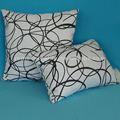 100% algodão estampado decorativa almofadas correspondentes e cortinas