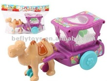 hot sale pull line toy plastic toy camels