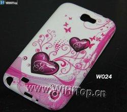 Love Hearts Print TPU Soft Gel for Samsung Galaxy Note 2 N7100,Soft TPU Gel Case for Galaxy Note 2 N7100 Hot Sale