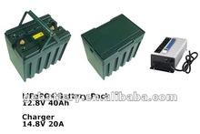 LiFePO4 40Ah 12V lithium iron phosphate battery