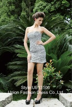 2013 new arrvial beading contract color figure flattering prom evening dress UE13106-1