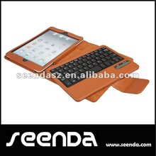 New release brown detachable wireless keyboard case for ipad mini 7.9inch
