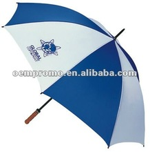 promotional blue and white rain gear