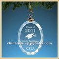 personalizada de vidro oval de enfeites para o presente de formatura